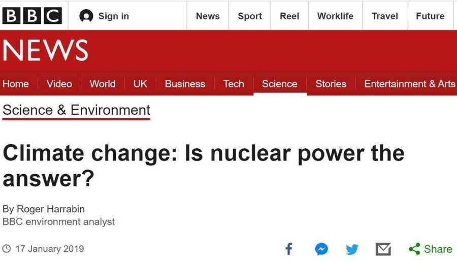 Cambio climático: ¿es la energia nuclear la respuesta?
