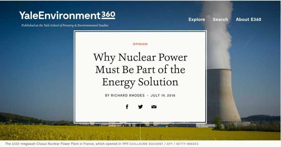 Por qué la energía nuclear debe ser parte de la solución energética